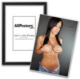 Shauna Gardner Holding Boobs Photograph Poster Print by Mario Brown Posters