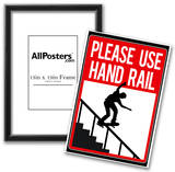 Please Use Hand Rail Sign Skateboard Sports Poster Print Prints
