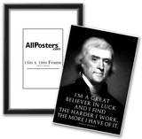 Thomas Jefferson Work Hard Poster