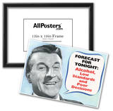 Weather Forecast Alcohol Low Standards Poor Decisions Funny Poster Prints