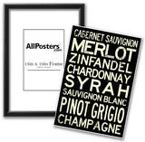 Wine Grape Types Art Print Poster Posters
