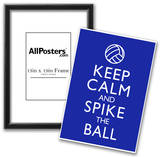 Keep Calm and Spike the Ball Volleyball Poster Posters