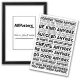 Mother Teresa Anyway Quote Poster Posters