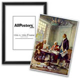 Writing the Declaration of Independence Historical Art Print Poster Photo