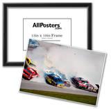 NASCAR Crash 1993 Daytona 500 Archival Photo Poster Print