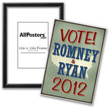 Vote Romney & Ryan 2012 Retro Photo