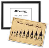 Wine Bottle Size Chart Prints