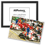 Gil de Ferran and Helio Castroneves Pit Stop Archival Photo Poster Prints