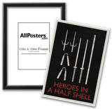 Heroes In a Half Shell Retro Posters