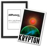 Krypton Retro Travel Poster Posters