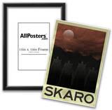 Skaro Retro Travel Poster Poster Print