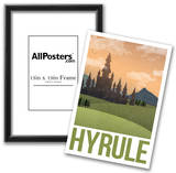 Hyrule Retro Travel Poster Posters