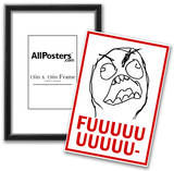 FUUUU- Rage Comic Meme Poster Prints