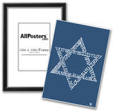 Star of David Text Poster Prints
