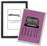 Create Retro Typewriter Player Art Poster Print Poster