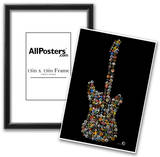 Classic Guitar Rock Buttons by Gdogs Cosmic Rock Poster Posters