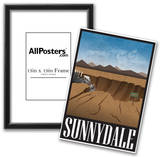 Sunnydale Retro Travel Poster Prints