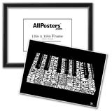 Piano Song Names Text Poster Posters