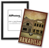 Armadillo Retro Travel Poster Posters