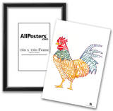 Rooster Breakfast 2 Text Poster Prints