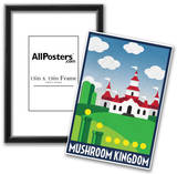Mushroom Kingdom Retro Travel Poster Posters