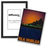 Isla Nublar Retro Travel Poster Posters