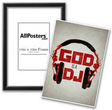 God is a DJ Music Prints