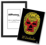 El Luchador Mask Text Poster Posters