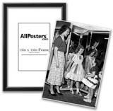 Girls in Dresses Archival Photo Poster Print