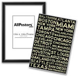 Major League Baseball Cities Vintage Style Posters