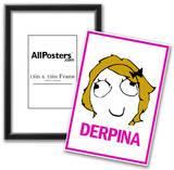 Derpina Rage Comic Meme Poster Posters