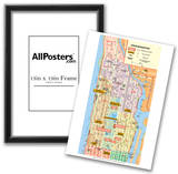 Michelin Official Upper Manhattan NYC Map Art Print Poster Photo