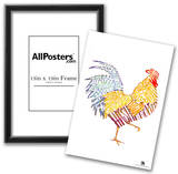 Rooster Breakfast Text Poster Poster