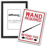 Wand Required Past This Point Sign Poster Poster