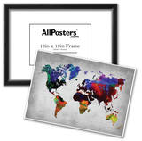 World Watercolor Map 12 Print