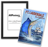 Ft. Lauderdale, Florida - Sailfish Scene Posters