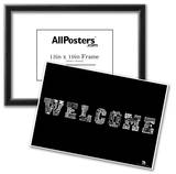 Welcome Languages Text Poster Prints
