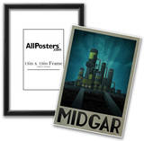 Midgar Retro Travel Poster Prints