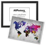 World Watercolor Map 13 Posters