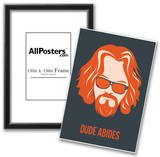 Dude Abides Orange Poster Prints