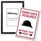 Hard Hats Required Past This Point Sign Poster Photo