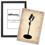 Vintage Microphone Posters