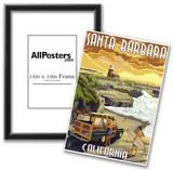 Santa Barbara, California - Woody and Lighthouse Posters