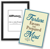 Fortune Favors the Prepared Mind Louis Pasteur Quote Print