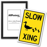 Duck Crossing Sign Poster Photo