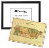 Puerto Rico - Panoramic Map Photo