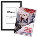 Chamonix Mont-Blanc, France - Skiing Promotional Poster Photo