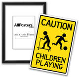 Caution Children Playing Sign Poster Prints