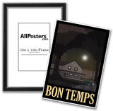 Bon Temps Retro Travel Poster Print