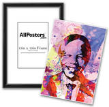 Nelson Mandela Watercolor Posters